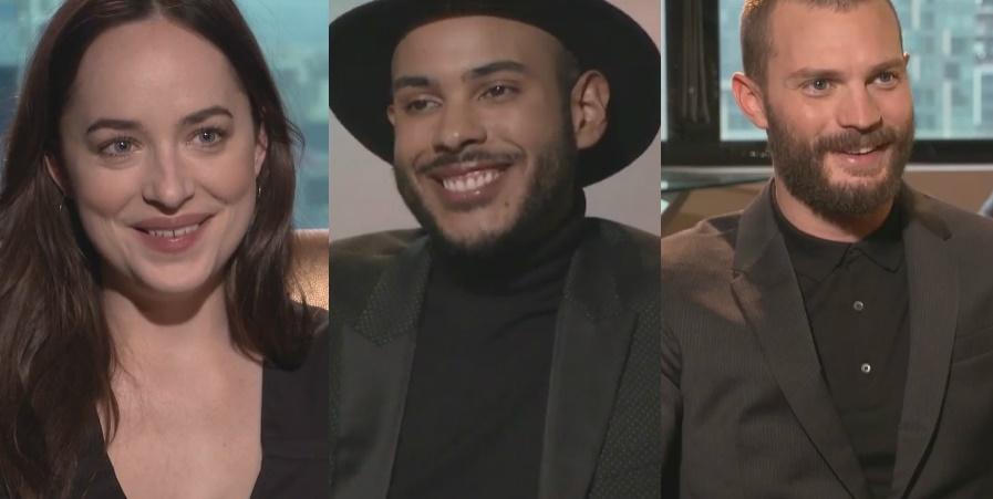 """Entrevista exclusiva com Jamie Dornan e Dakota Johnson, os maravilhosos de """"Cinquenta Tons Mais Escuros""""; vem ver!"""