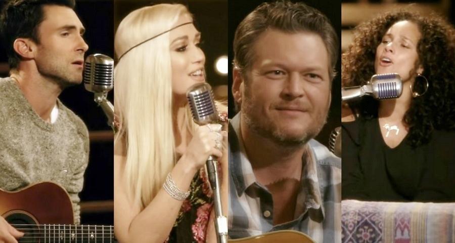 """""""The Voice"""": Adam, Gwen, Blake e Alicia fazem cover lindo de """"Waterfalls"""", do TLC"""