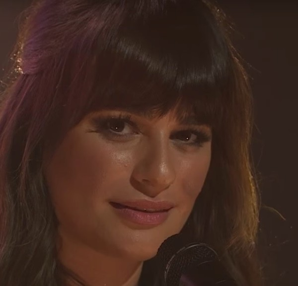 lea michele late night