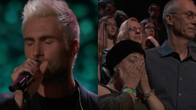 Adam Levine e seu time do The Voice fazem homenagem emocionante a Christina Grimmie