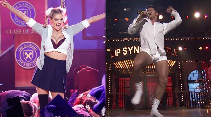"Ricky Martin sensualiza de cueca e Kate Upton arrasa como Britney no ""Lip Sync Battle"""