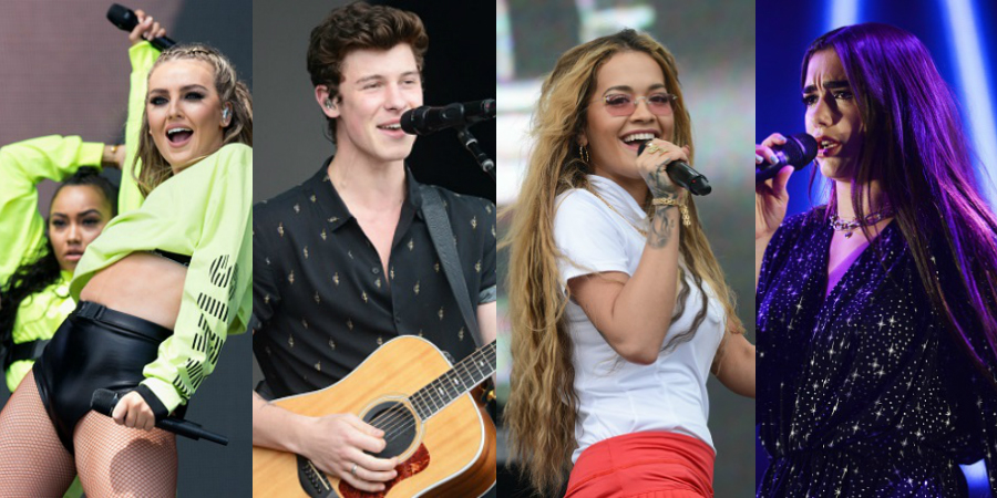 Surra de shows! Little Mix, Shawn Mendes, Rita Ora e Dua Lipa lacram em festival!