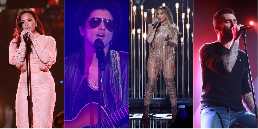 Demi Lovato; Bruno Mars; J.Lo; Adam Levine e mais dão o show em programa beneficente