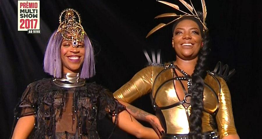 Ludmilla e Karol Conka fazem dueto cheio de girlpower no Prêmio Multishow 2017
