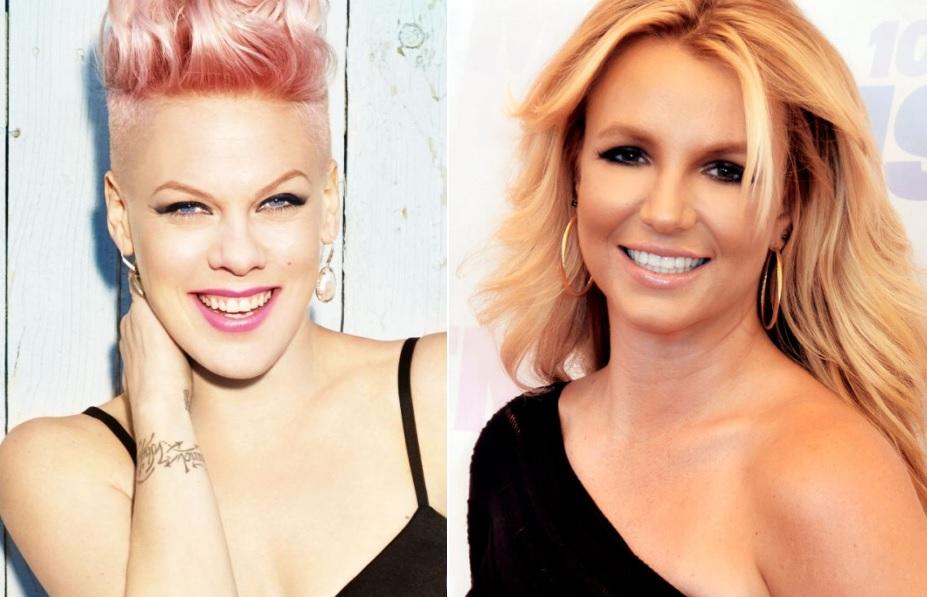 """P!nk confessa que sentiu inveja de Britney Spears: """"Lançou algo e foi direto para o primeiro lugar"""""""