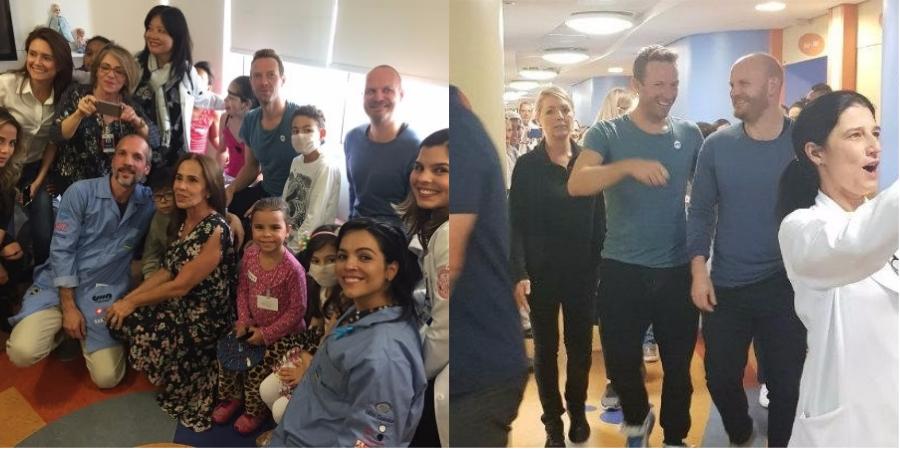 Emocionante: Coldplay canta sucessos para crianças no Instituto do Coração em SP