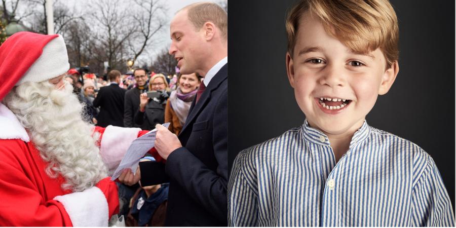 Príncipe William entrega cartinha de George a Papai Noel; saiba o que ele pediu