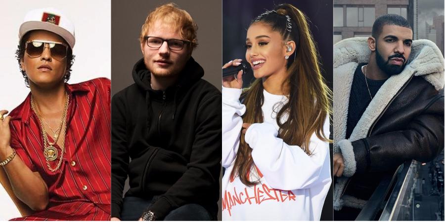 Billboard revela quais foram as músicas e os artistas mais bombados de 2017