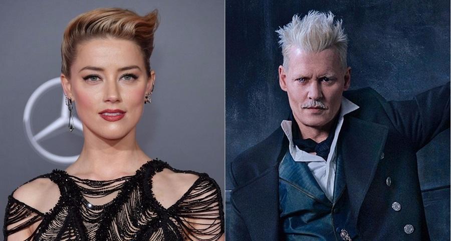 """Amber Heard se manifesta sobre polêmica envolvendo Johnny Depp em """"Animais Fantásticos"""""""
