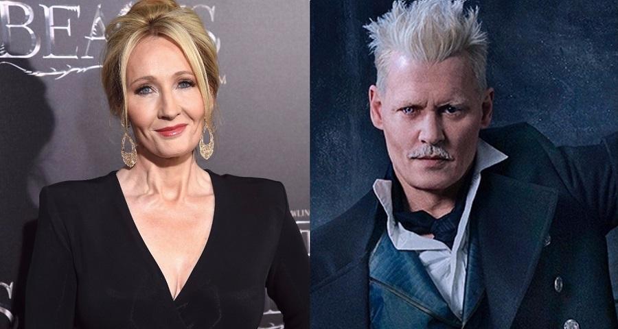 """J.K. Rowling quebra silêncio sobre permanência de Johnny Depp em """"Animais Fantásticos"""""""