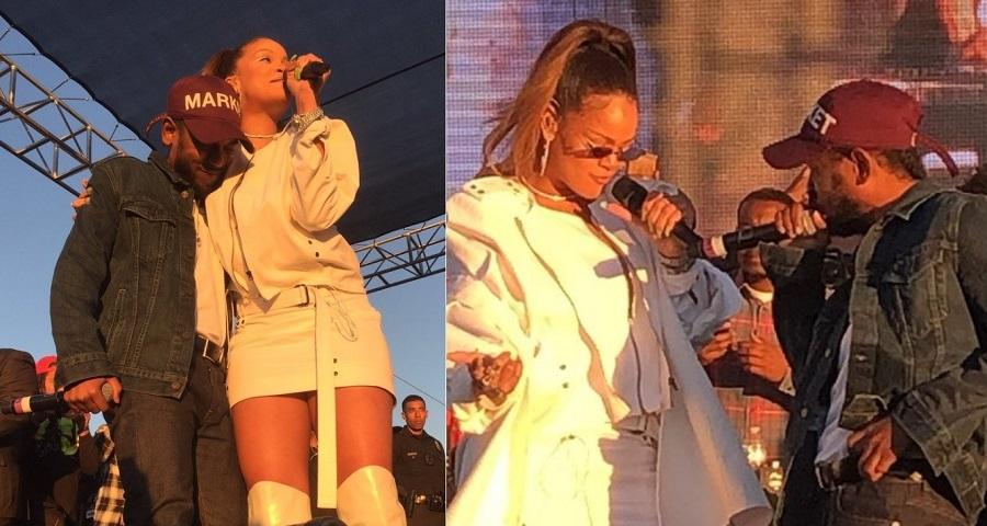 """Rihanna faz primeira performance de """"Loyalty"""" com Kendrick Lamar em show de Natal; assista"""
