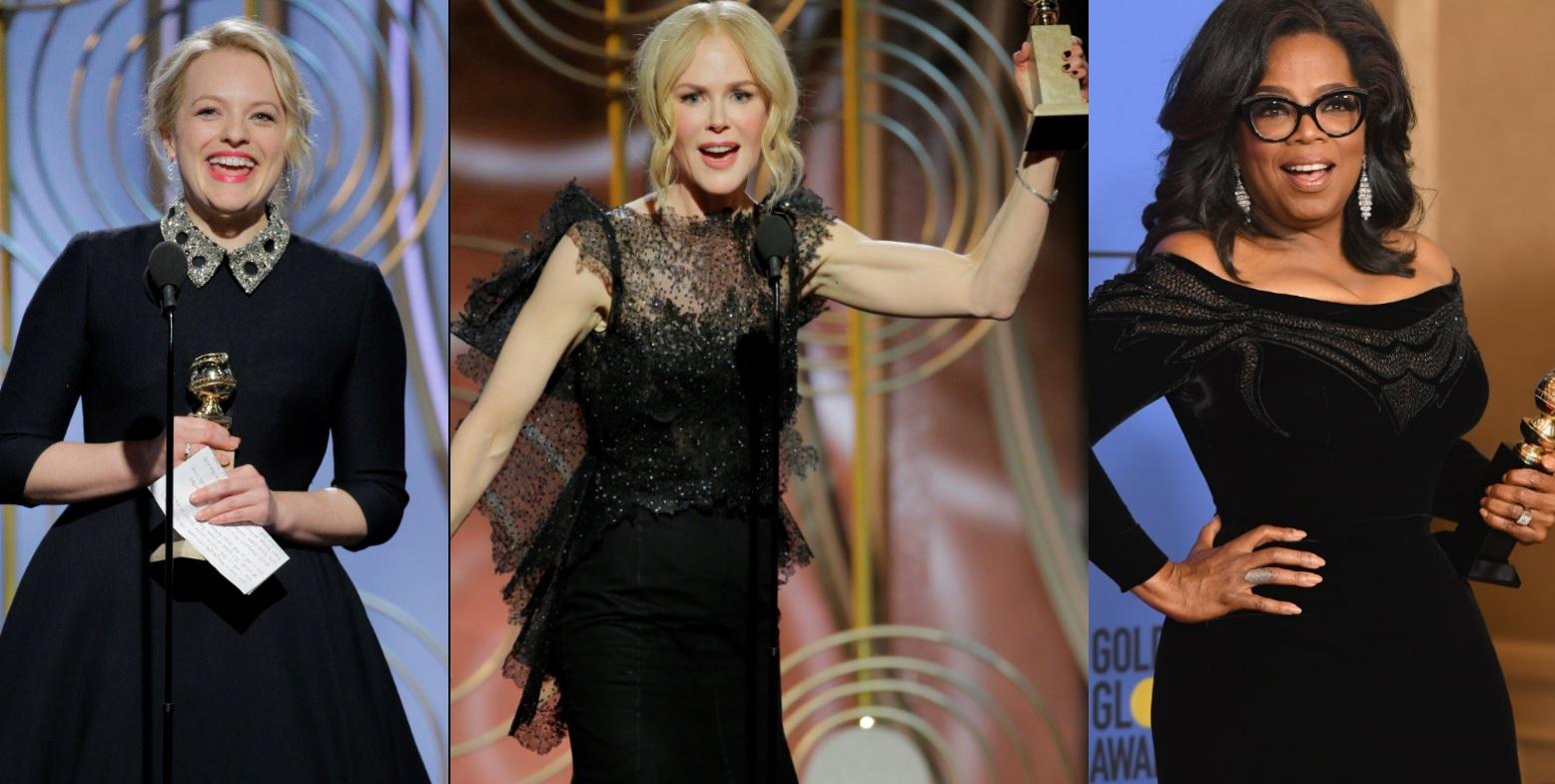 'Globo de Ouro 2018': discursos empoderados, The Handmaid's Tale, Big Little Lies e 'Três Anúncios Para um Crime' brilham