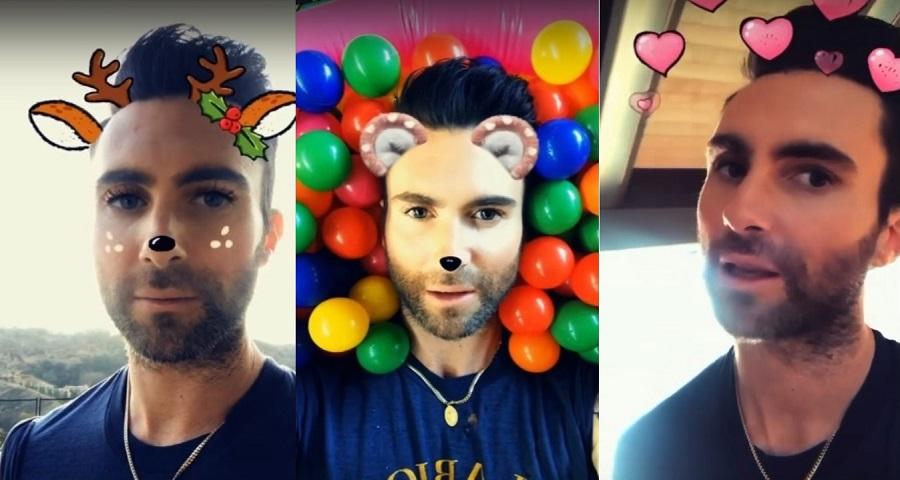 """Adam Levine está viciado nos filtros do Snap no clipe de """"Wait"""", do Maroon 5; vem ver"""