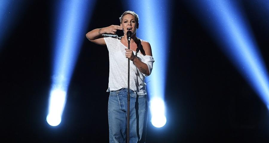 "Grammy 2018: Pink faz performance LINDA de ""Wild Hearts Can't Be Broken"" ao lado de intérprete de libras"