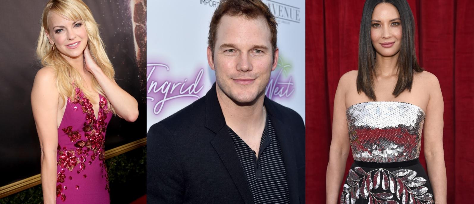 Após boatos de namoro com Chris Pratt, Olivia Munn mostra mensagens que trocou com Anna Faris
