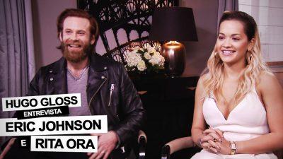 Rita Ora e Eric Johnson falam sobre '50 Tons de Liberdade' e declaram amor pelo Brasil