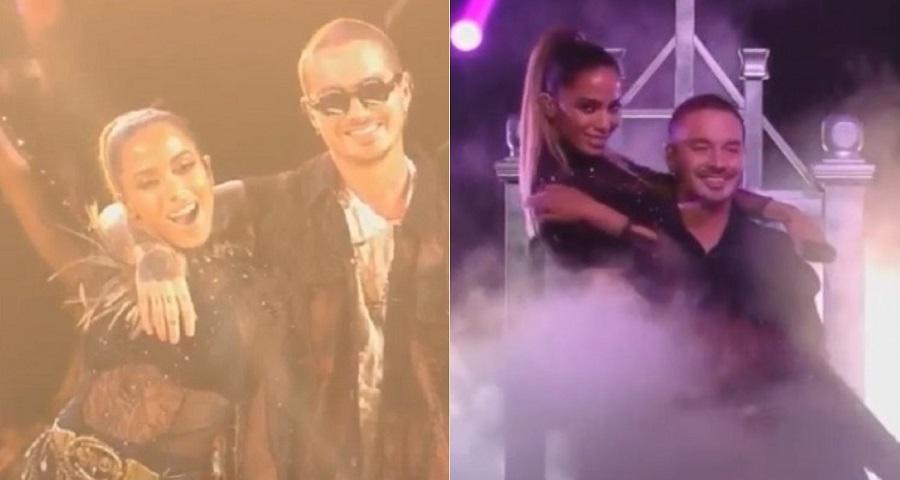 "Premio Lo Nuestro: Anitta arrasa em performances de ""Machika"" e ""Downtown"" com J Balvin"