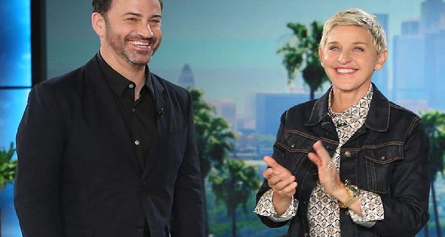 Ellen DeGeneres faz surpresa emocionante para Jimmy Kimmel e seu filho, assista!