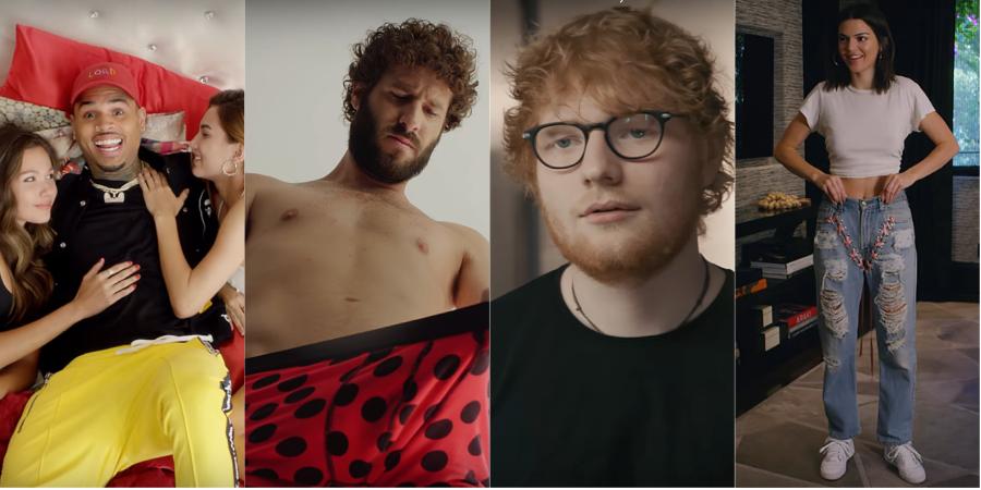 HILÁRIO! Com Kendall Jenner e Ed Sheeran, Lil Dicky troca de corpo com Chris Brown no clipe MARA de 'Freaky Friday'