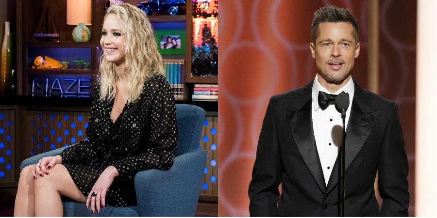 Jennifer Lawrence comenta suposto romance com Brad Pitt e se atrapalha em ranking de Kardashians
