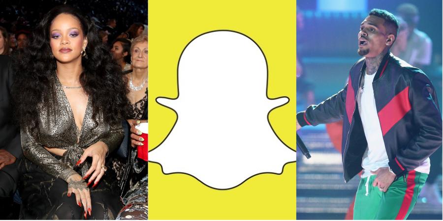 Rihanna tomba com o Snapchat após polêmica envolvendo a cantora e Chris Brown