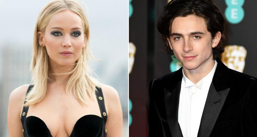 "Timothée Chalamet fala sobre ""crush"" de Jennifer Lawrence por ele: ""Ela é incrível"""