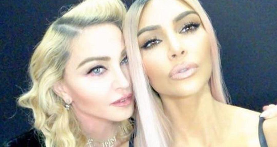 """Kim Kardashian relembra """"espiadinha"""" em Madonna quando era criança"""