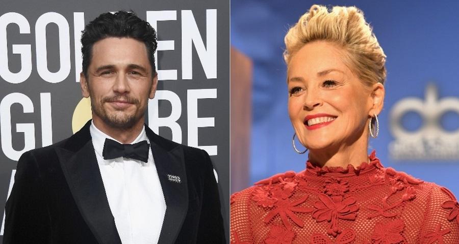 """Sharon Stone defende James Franco de acusações de assédio sexual: """"Ele é o melhor"""""""