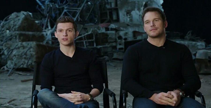 Tom Holland comenta que contracenar com Chris Pratt é difícil