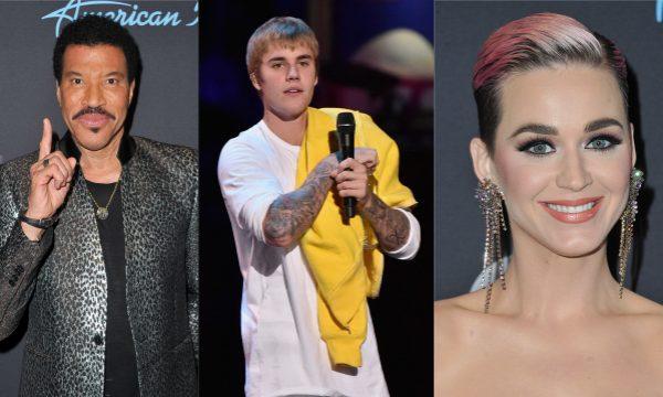 Lionel Richie alfineta desempenho vocal do ex-genro Justin Bieber e Katy Perry sai em defesa do canadense