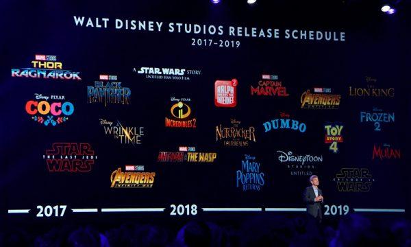 Anote aí: Disney e Marvel divulgam datas de todos os lançamentos até o fim de 2019!