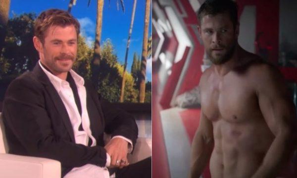 DEUSO! Ellen celebra cenas de Chris Hemsworth sem camisa nos filmes da Marvel