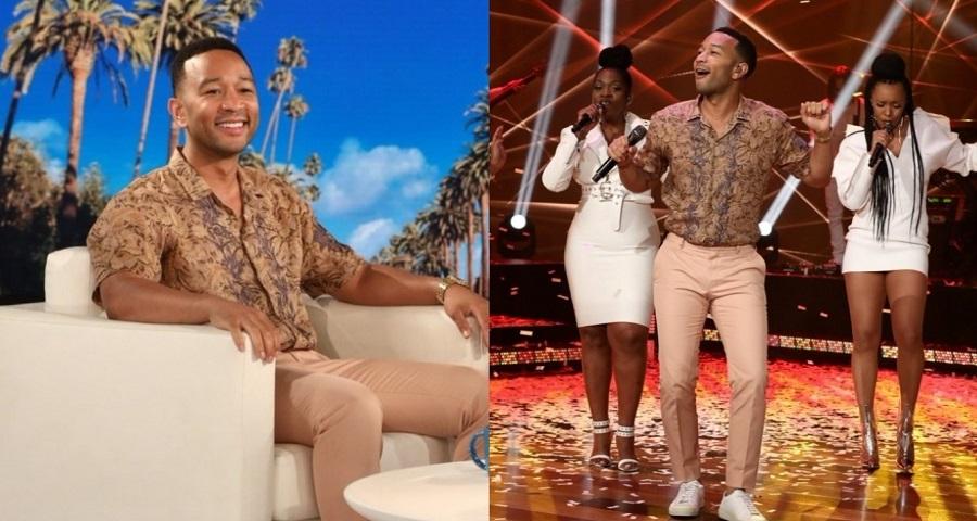 """Na Ellen, John Legend dá pistas sobre """"quem mordeu Beyoncé"""" e faz primeira performance de """"A Good Night"""""""