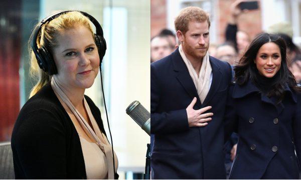 Amy Schumer faz piada com união de Meghan e Príncipe Harry: 'Consegue imaginar um casamento pior?'