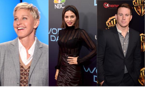 Ellen DeGeneres comete deslize com Jenna Dewan, e estrela fala sobre divórcio de Channing Tatum