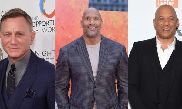 Daniel Craig; The Rock e Vin Diesel se destacam em lista dos maiores salários de Hollywood