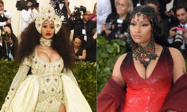 """Cardi B conta como foi encontro com Nicki Minaj no MET Gala: """"Nunca tive rixa com ninguém"""""""