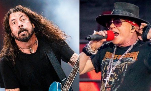 "Foo Fighters e Guns 'n Roses fazem performance épica de ""It's So Easy"" na Itália, assista!"