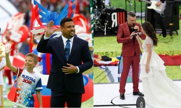 Copa do Mundo 2018: Abertura tem participação de Ronaldo e performance linda de 'Angels' com Robbie Williams e Aida Garifullina