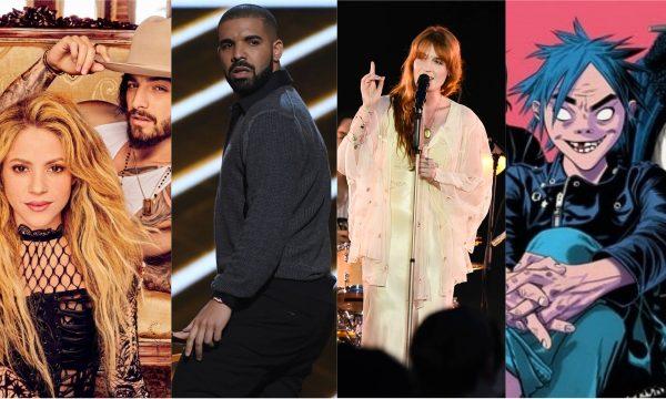 Vídeo de Shakira e Maluma para 'Clandestino'; novos discos de Drake; Florence e Gorillaz, e mais são destaques dos 'Lançamentos de Sexta'