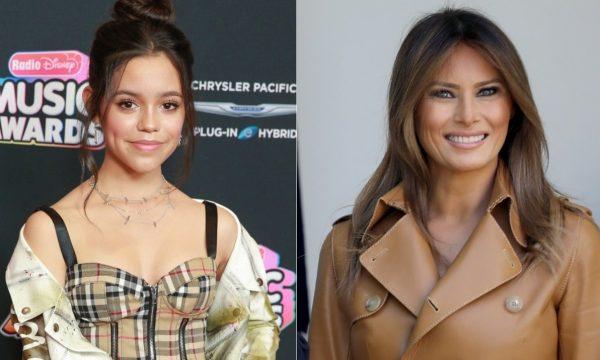 Estrela da Disney, Jenna Ortega usa jaqueta para responder a polêmico look de Melania Trump