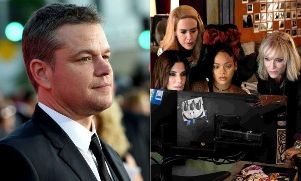 """""""Oito Mulheres e um Segredo"""": Diretor explica motivo de Matt Damon ter sido cortado do filme"""