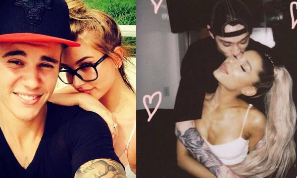 "Hailey Baldwin exibe anel poderoso ao lado de Bieber e Ariana Grande rebate comparações: ""Somos seres humanos"""