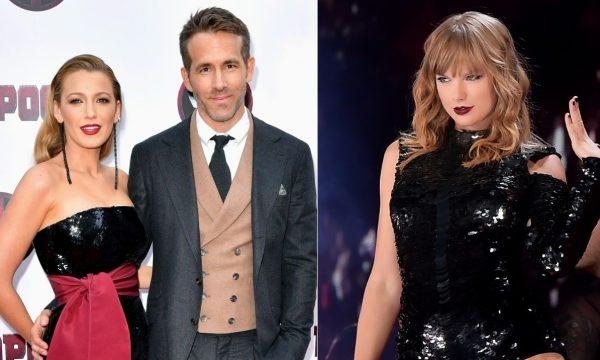 Vídeo: Blake Lively e Ryan Reynolds piram ao ouvir a voz da filha em show de Taylor Swift