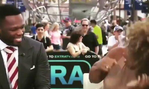 Vídeo: Inseto deixa apresentadora surtada, e rapper 50 Cent não segura o riso em entrevista