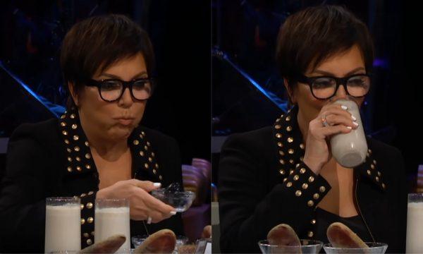 Kris Jenner come inseto e bebe vitamina 'bizarra' para fugir de perguntas sobre filhas e o namorado!