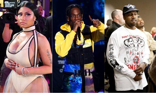 Pistola! Barrada da liderança, Nicki Minaj detona Travis Scott e envolve até Kanye West na treta: 'Idiota!'