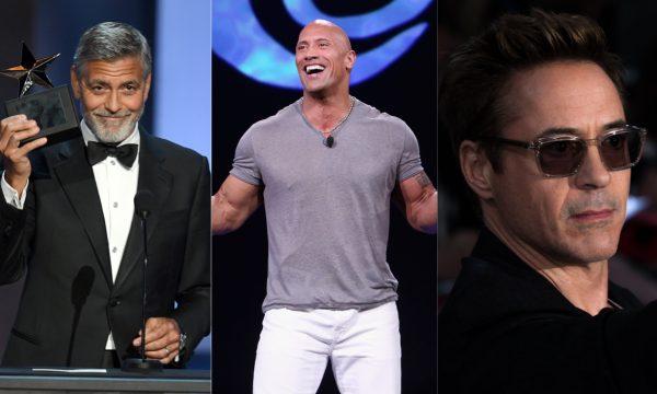 George Clooney, The Rock e Robert Downey Jr. lideram lista da Forbes dos atores mais bem pagos; confira!