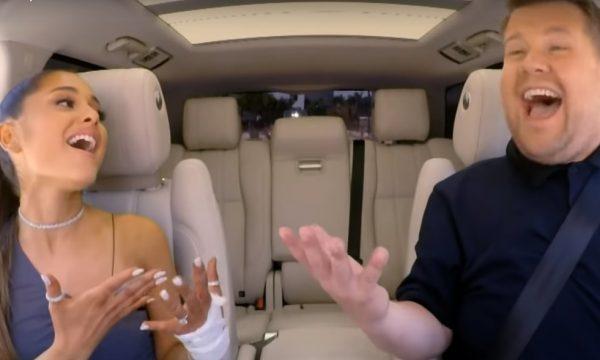 Após sucesso em musical de 'Titanic', Ariana Grande e James Corden arrasam no 'Carpool Karaoke'