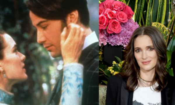 Após vinte e seis anos, Winona Ryder brinca sobre casamento real com Keanu Reeves